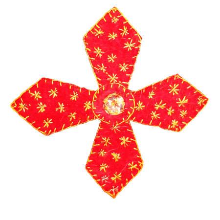 Cruz vermelha em fundo branco