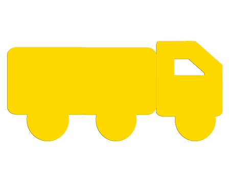 loads: Yellow truck loads Stock Photo