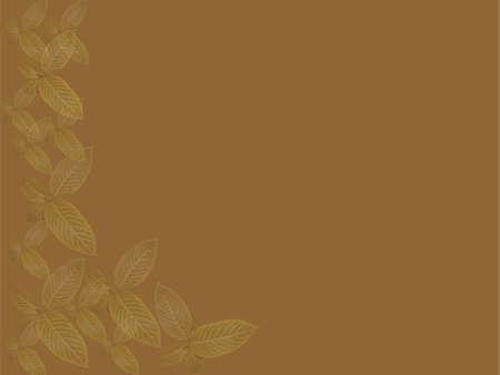 crocket: vintage brown texture with leaves
