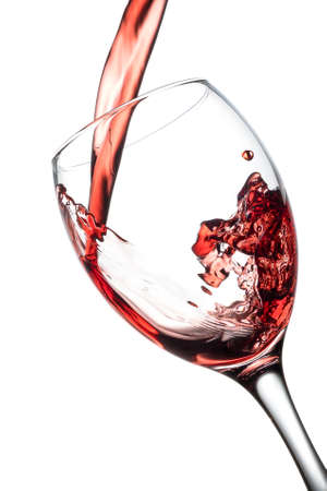 white wine: Pour red wine in glass