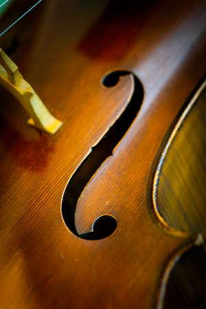 Ausschnitt aus einem 100 Jahre alten Cello Lizenzfreie Bilder