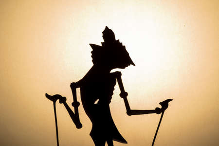 Traditional Wayang puppet from Java Indonesia photo