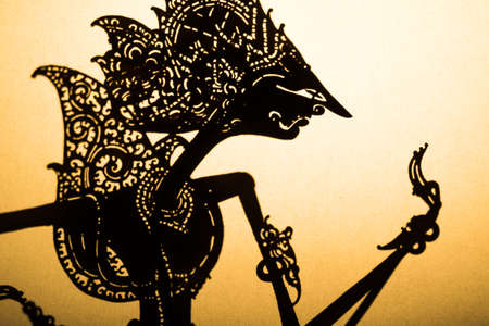 puppet master: Traditional Indonesian wayang puppet