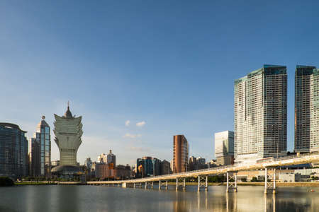 MACAU, CHINA - JULY 4, 2014: The skyline of Macau. Macau is one of the two Special Administrative Regions of the People's Republic of China, the other being Hong Kong. Editorial