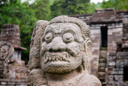 Candi Sukuh oder Fruchtbarkeit Tempel, Central Java, Indonesien Standard-Bild
