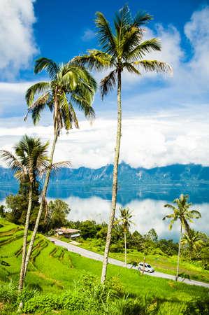 See Maninjau Ansicht, Bukittinggi, West Sumatra, Indonesien Lizenzfreie Bilder