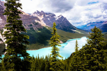 Peyto Lake, Rocky Mountains, Canada Stock fotó