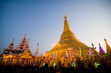 Shwedagon-Pagode, oder offiziell Shwedagon Zedi Daw ist eine wichtige Stupa in Yangon, Myanmar