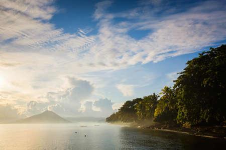 Banda Islands landscape Stock Photo