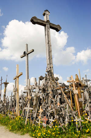 pilgrimage: hey Hill of Crosses in Lithuania pilgrimage site.