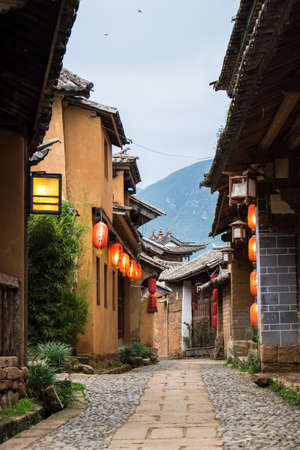 Old street in Shaxi, a traditional Chinese village in Yunnan, China.