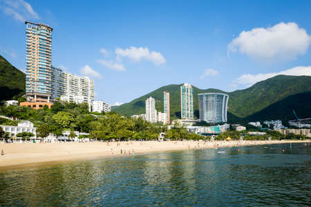 repulse: Skyline of Repulse Bay in Hong Kong, China Editorial