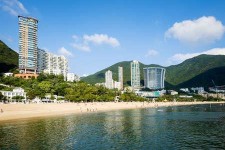 Skyline von Repulse Bay in Hongkong, China Editorial