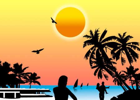 sun set Stock Photo - 5525410