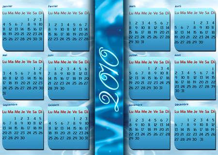abstrait: Calender 2010 Stock Photo