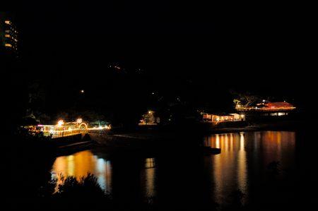 night lights in Foros park