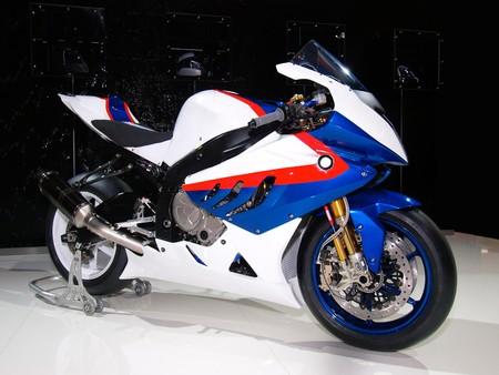 Modern supersport bike against a dark background. Stock Photo
