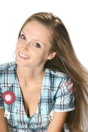 Smiling young woman with inclined head