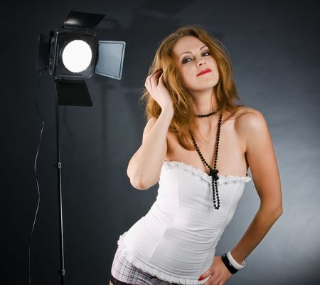 backstage: Backstage in studio with monolight
