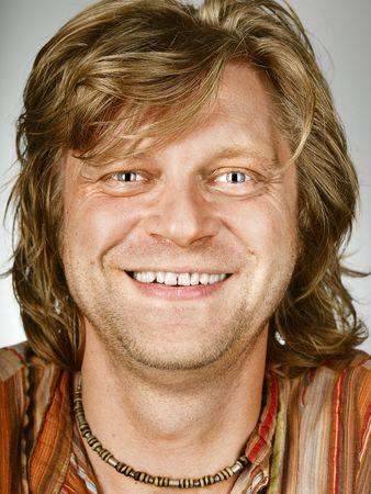Closeup portrait of smiling man Stock Photo