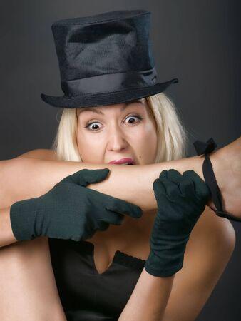 showgirl: Fun portrait of cabaret showgirl