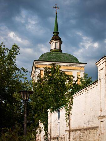Orthodox Church against a clouds sky in Kiev, Ukraine Stock Photo