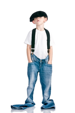 scamp: Kid like a fun scamp Stock Photo