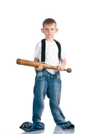 Boy with baseball bat Stock Photo - 8785226