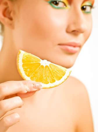 segment: Orange segment and girl in blur