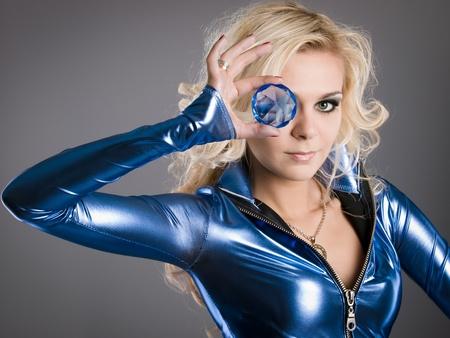 crystal eye Stock Photo