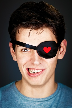 attractive young amorous pirate in the eye-band Stock Photo - 8785590