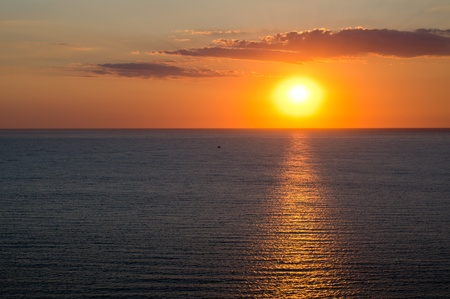 marine scape. sunset on the sea Stock Photo