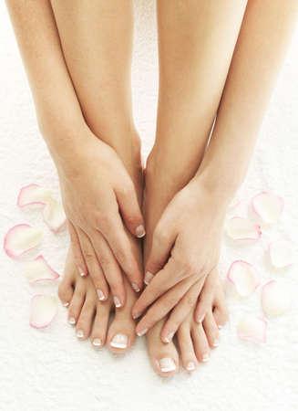 manos y pies: Spa y bienestar Foto de archivo