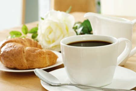 croissant and coffee photo