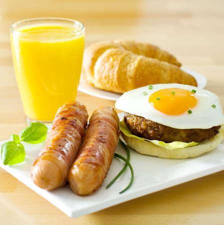 worsten: ontbijt Stockfoto