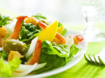 delicious salad of shrimps  photo