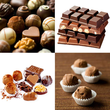 pralines: Beautiful food collage