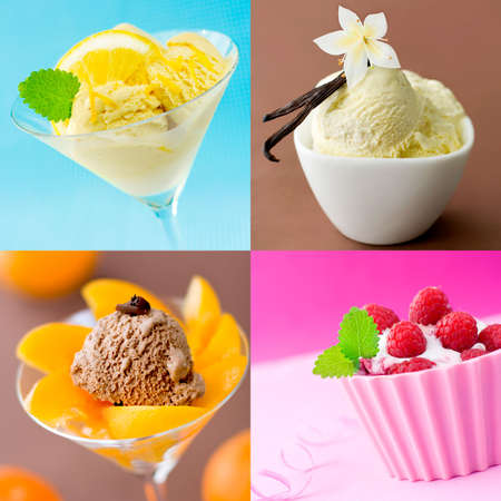 sorbet: Beautiful food collage