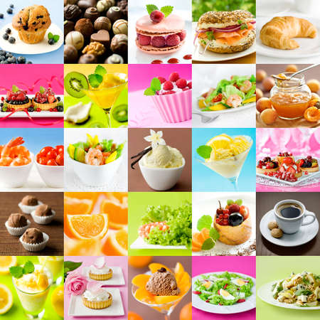 Beautiful food collage photo
