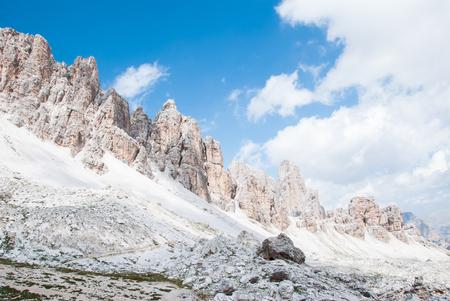 ices: Dolomites, Italy. Walk on Lagazuoi