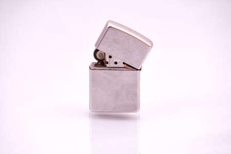 cigarette lighter: Half opened cigarette lighter.