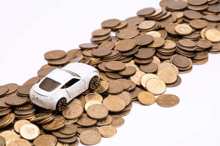 expenses: Abstract of car ownership expenses isolated.