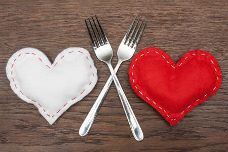 romantic love: Valentines Day - Abstract - Romantic dinner for two. Stock Photo