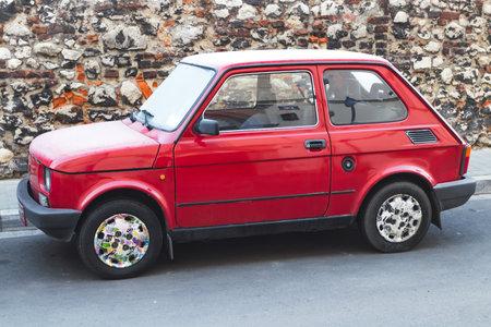 Krakow, Poland - 31 December 2016: Fiat 126p called