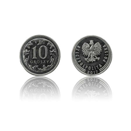 Polish currency 10 gr coin (PLN or