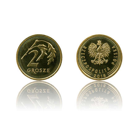 Polish currency 2 gr coin (PLN or