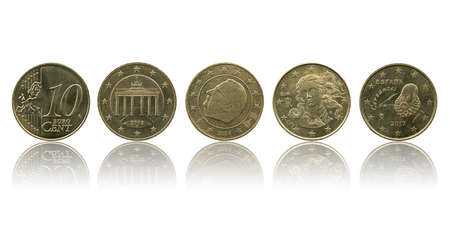 European Union currency 10 ec coin (EUR or