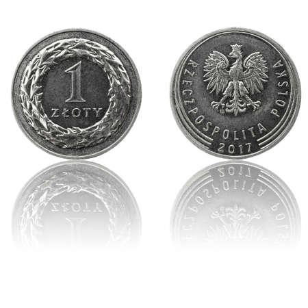 Monnaie polonaise pièce de 1 zl (PLN ou