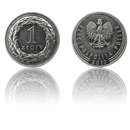 Polish currency 1 zl coin (PLN or