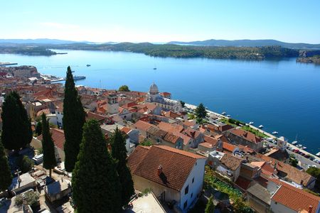 View at the old part of Sibenik, Croatia